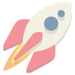 faded rocket launching icon
