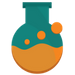 Research flask icon