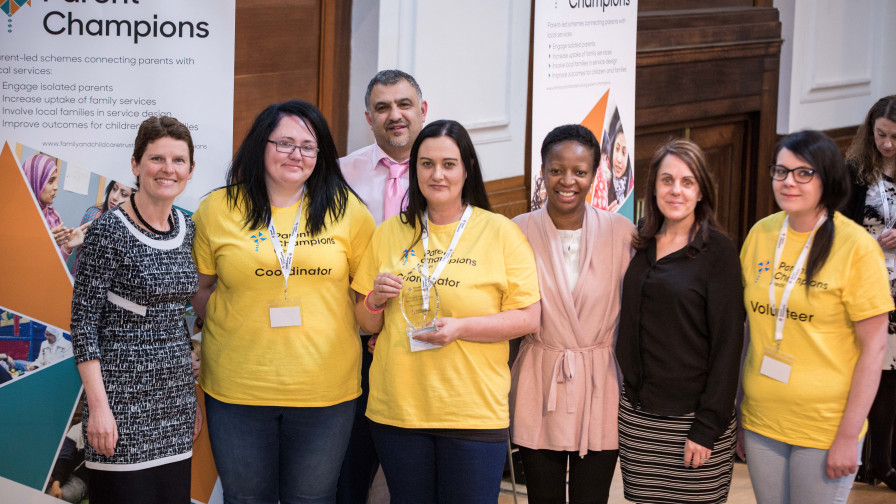 Parent Champions Leeds won the Biggest impact on two year old take up 2018 award