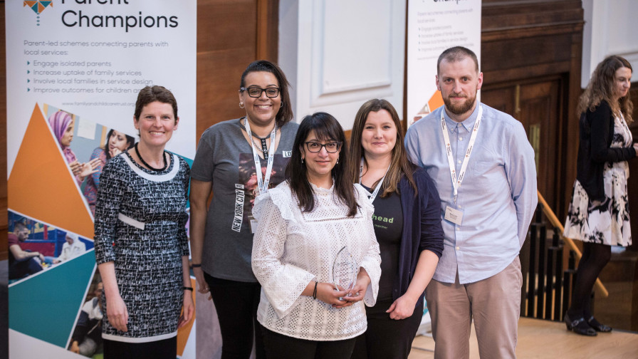 Parent Champions Wolverhampton won the Scheme of the year 2018 award
