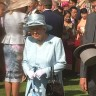 Queen Elizabeth greeted the guests attending her garden party