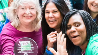 Wandsworth Parent Champions celebrate winning the award for outstanding contribution to the Parent Champion National Network